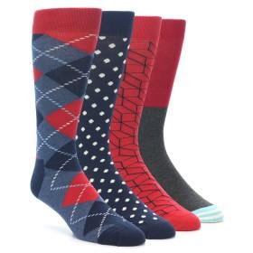 21986-Navy-Blue-Red-Mens-Dress-Socks-Gift-Box-4-Pack-Happy-Socks1