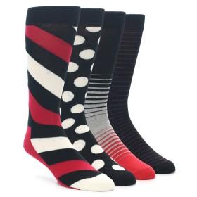 21987-Black-Red-White-Mens-Dress-Socks-Gift-Box-4-Pack-Happy-Socks01