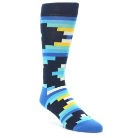 21988-Navy-Blues-Partial-Stripes-Mens-Dress-Socks-Happy-Socks01