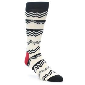 21991-Black-White-Zig-Zag-Stripe-Mens-Dress-Socks-Happy-Socks01