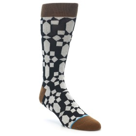 22001-Black-Grey-Geometric-Mens-Casual-Socks-STANCE01