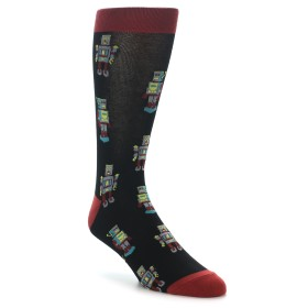 22097-Black-Grey-Red-Robot-Mens-Dress-Socks-Sock-It-To-Me01