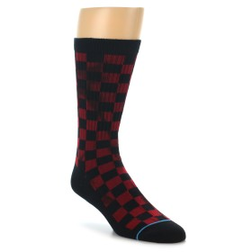 22104-Black-Red-Checkered-Men-s-Athletic-Crew-Socks-STANCE01