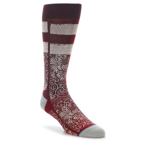 22105-Red-White-Floral-Pattern-Men-s-Dress-Socks-STANCE01