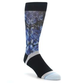 22106-Black-Blue-Floral-Pattern-Men-s-Dress-Socks-STANCE01