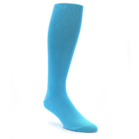 "Malibu Blue Men's Over the Calf Dress Socks 16"" inch"
