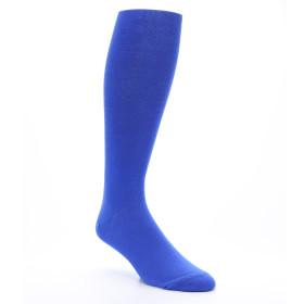 Royal Blue Over the Calf Men's Dress Socks
