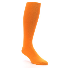 Tangerine Orange Men's Over the Calf Dress Socks