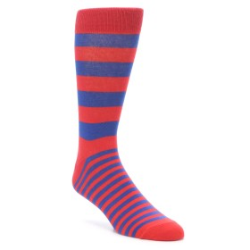 22116-Red-Blue-Stripe-Men-s-XL-Dress-Socks-Richer-Poorer01