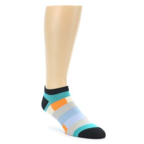 22137-Grey-Blue-Orange-Stripe-Men-s-Ankle-Sock-Good-Luck-Socks01