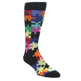 Novelty Men's Puzzle Socks