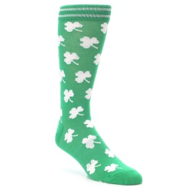 Novelty Men's Lucky Clover Shamrock Socks