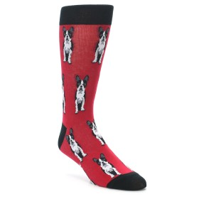 Boston Terrier Dog Men's Dress Socks