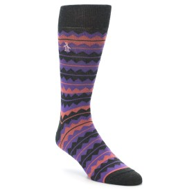 22164-Charcoal-Purple-Orange-Stripe-Mens-Dress-Socks-Original-Penguin01