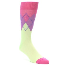 22165-Pistachio-Pink-Purple-Argyle-Mens-Dress-Socks-Original-Penguin01