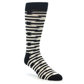 22177-Black-and-White-Barbwire-Stripe-Mens-Dress-Socks-Happy-Socks01