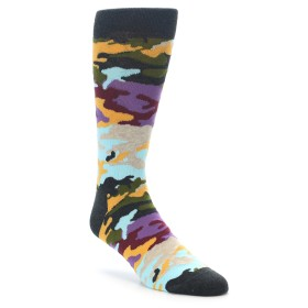 22180-Charcoal-Tan-Multi-Color-Camo-Mens-Dress-Socks-Happy-Socks01