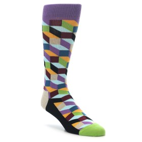 22181-Purple-Khaki-Multi-Color-Optical-Mens-Dress-Socks-Happy-Socks01