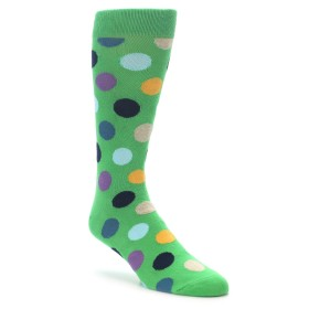 22185-Green-Multi-Color-Polka-Dot-Mens-Dress-Socks-Happy-Socks01