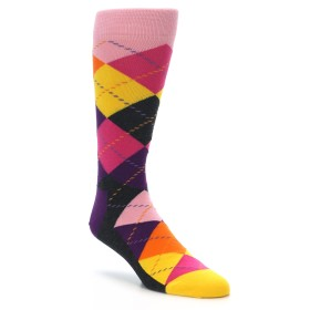 22193-Pink-Purple-Multi-Color-Argyle-Mens-Dress-Socks-Happy-Socks01