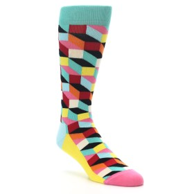 22201-Teal-Bright-Multi-Color-Optical-Mens-Dress-Socks-Happy-Socks01