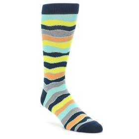 22204-Bright-Multi-Color-Wave-Stripe-Mens-Dress-Socks-Ozone-Socks01