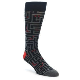 Black Maze Socks for Men