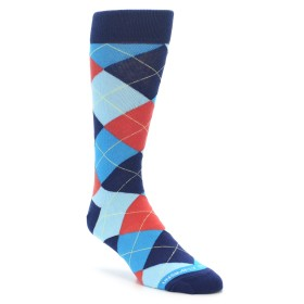 22222-Coral-Blues-Argyle-Mens-Dress-Socks-Unsimply-Stitched01