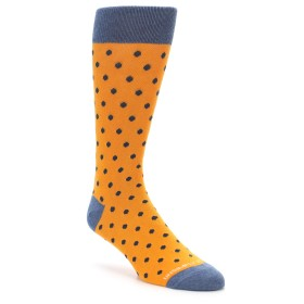 Orange and Navy Polka Dot Socks