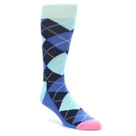 Happy Socks Navy Blue Argyle