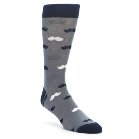 Grey Mustache Men's Novelty Socks