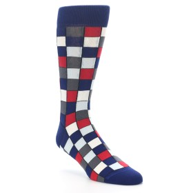 Blue Red Checkered Socks - Statement Sockwear