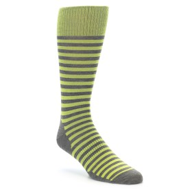 Smartwool Men's Lifestyle Stria Crew Socks Lime Green. Made with Merino Wool.