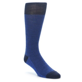 Smartwool Men's Lifestyle Houndstooth - Deep Navy. Made with Merino Wool.