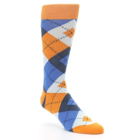 Orange and Blue Wedding Socks - Statement Sockwear