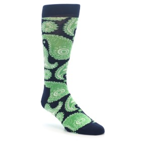 Happy Socks Green and Navy Paisley Socks for Men