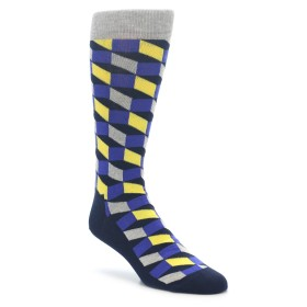 Happy Socks Yellow Blue Grey Optical