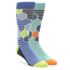 Hexagon Stripe Pattern Sock 2 Pack