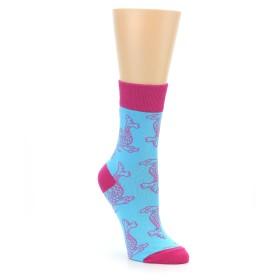 22394-Aqua-Pink-Koi-Fish-Womens-Dress-Socks-Good-Luck-Socks-Socks-Good-Luck-Sock01