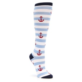 Nautical Anchors Knee High Socks