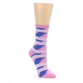 Richer Poorer Pink Women's Coaster Socks