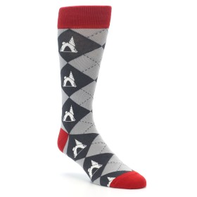 Men's Novelty Tent Camping Socks