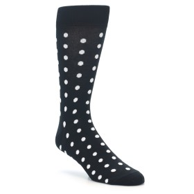 Black White Polka Dot Groomsmen Wedding Socks