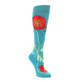 Women's Socks with Poppies on them