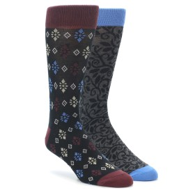 22410-Navy-Grey-Patterned-Mens-Dress-Socks-2-Pack-PACT01