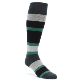 zkano Over the Calf Black and Green Men's Socks