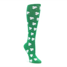 Novelty Shamrock Three Leaf Clover Knee Socks for Women