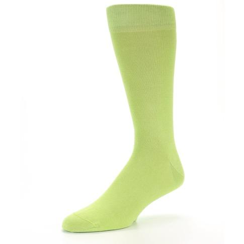 Lime Green Solid Color Men S Dress Socks Boldsocks