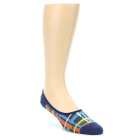 21002-blue-multi-color-plaid-mens-no-show-sock-ozone-socks01