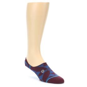 21659-maroon-blue-men's-liner-socks-stance01